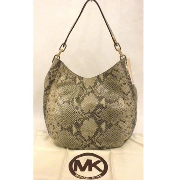d9cf2c3ae5b28d Michael Kors Bags | Fulton Angora Python Leather Hobo Bag | Poshmark
